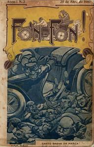 Capa da revista Fon-Fon, disponível na Hemeroteca Digital Brasileira com edições que vão de 1907 até 1945. (Reprodução)