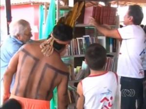 Biblioteca Cidadã será inaugurada na aldeia funil nesta sexta. Foto: Reprodução / TV Anhanguera