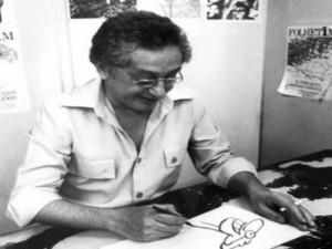 """Reginaldo José Azevedo Fortuna era maranhense de São Luís. """"Um brasileirinho excelente"""", nas palavras do organizador do livro, Cássio Loredano. OVIDIO VIEIRA/FOLHAPRESS/ EM FORTUNA, O CARTUNISTA DOS CARTUNISTAS"""