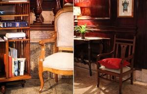 Cadeiras francesas foram espalhadas pelo ambiente para maior conforto dos hóspedes (Foto: Divulgação)