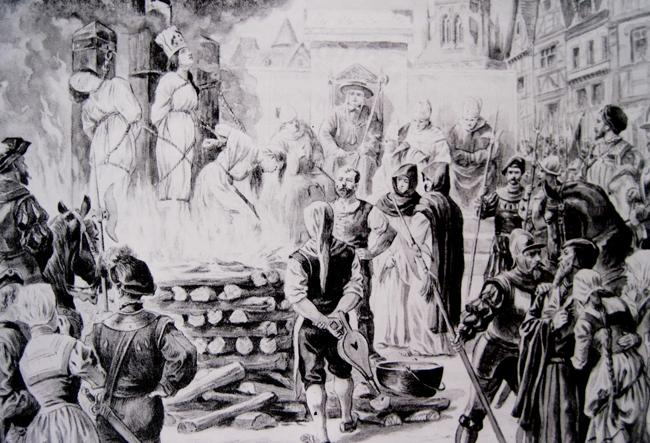 No mesmo período em que livros científicos eram censurados, pessoas acusadas de bruxaria eram queimadas vivas em praça pública