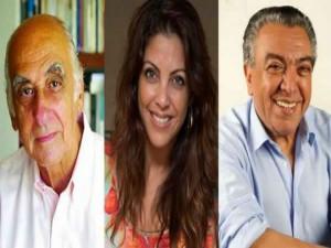 Zuenir Ventura, Talita Rebouças e Ziraldo: os autores foram as principais atrações do evento. Foto: divulgação.