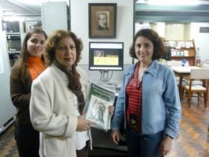 Com as bibliotecárias da Biblioteca da Escola de Música UFRJ