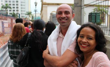 """Wilson e Márcia: """"no Maranhão não tem esse tipo de atividade cultural"""". Foto: Chico de Paula / Agência Biblioo"""