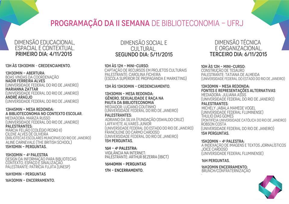 ii_semana_de_bilio_UFRJ_programacao