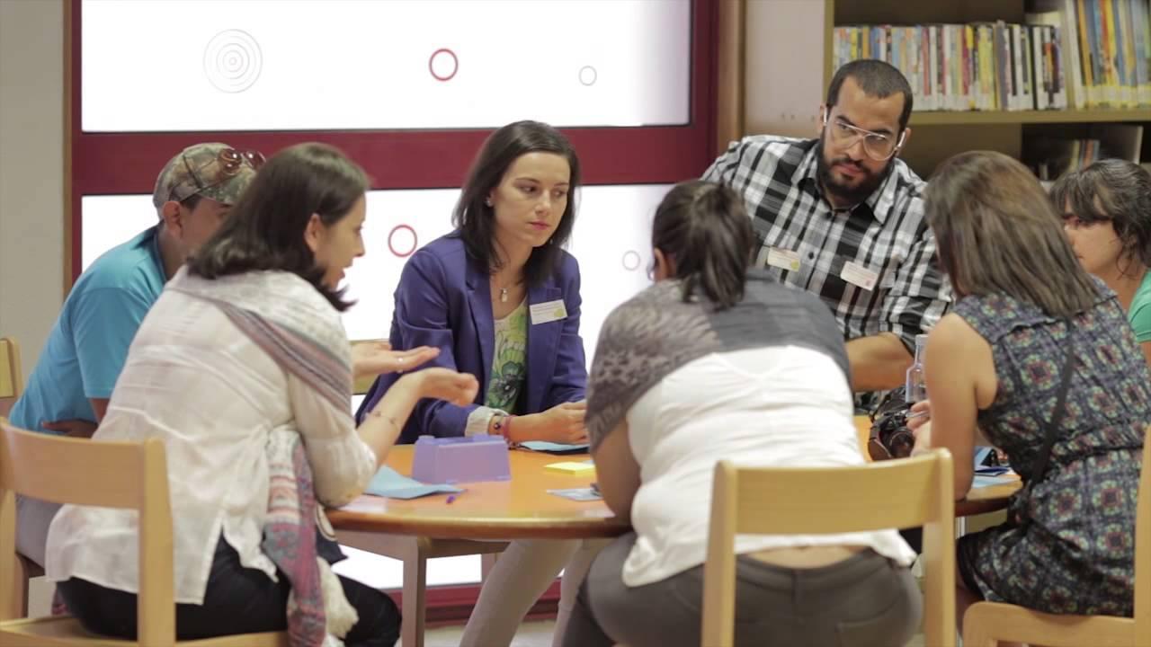 Wander no Encontro de Bibliotecários Iberoamericanos em 2015. Foto: The International Network of Emerging Library Innovators.