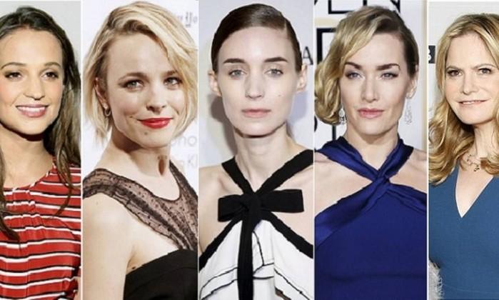 Alicia Vikander, Rachel McAdams, Rooney Mara, Kate Winslet, Jennifer Jason Leigh na categoria de melhor atriz coadjuvante - REUTERS