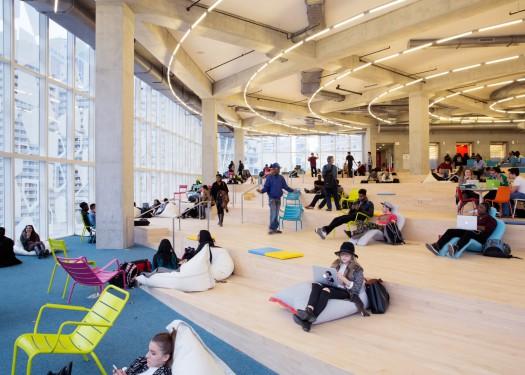Ryerson University Student Learning Centre en Toronto (Canadá). Fonte: IdealistaNews