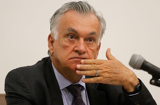 O ministro da Cultura, Juca Ferreira, em evento no auditório do Ministério da Justiça. Foto: Alan Marques/Folhapress.